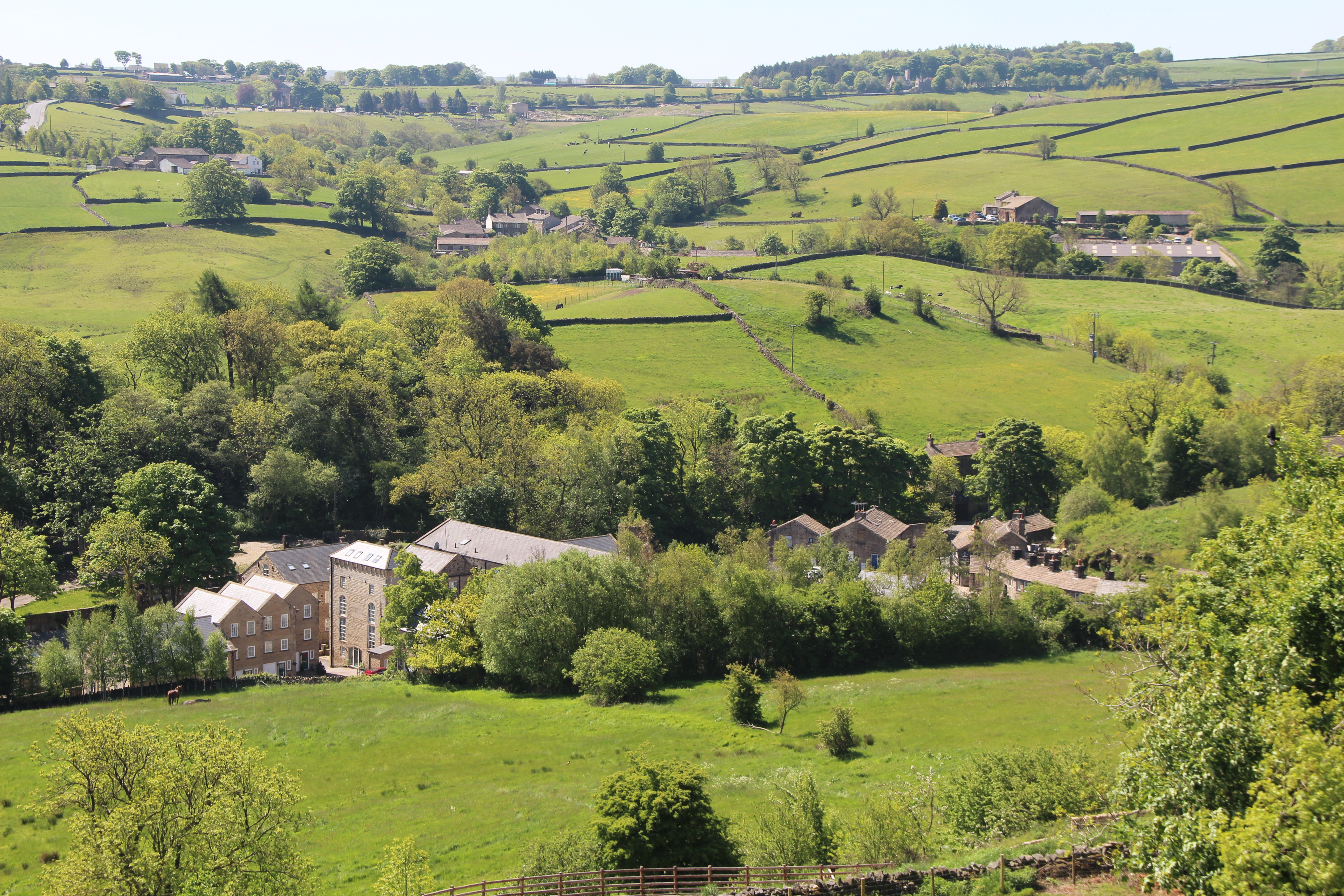 Goose Eye and view to Oakworth